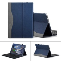 Tablet Laptop Case Cover With Pen Holder For Lenovo Miix 510 (Miix5)/520 12.2 inch PU Leather Skin Protective Sleeve Case