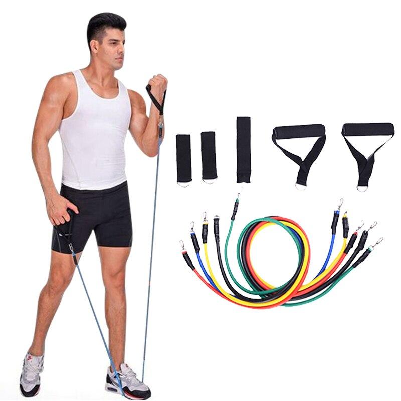 kopen goedkoop 11 stks pull touw fitness weerstand bands crossfitWeerstandstubes #15