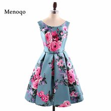 Phụ nữ Retro Váy 50 s 60 s Vintage Rockabilly Swing vestidos feminino A Line tay hoa in cocktail dress(China)