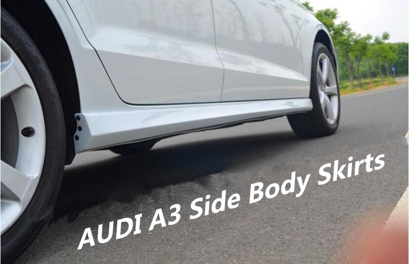 Jioyng Car Abs Paint Side Body Skirts Kit Cover For 14 18 Audi A3 S3