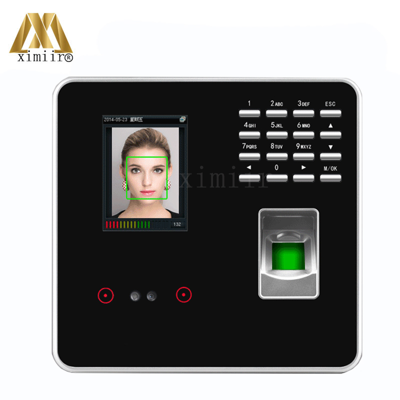 Face Recognition Time Attendance With Simple Access Control System Biometric Fingerprint Time Recording ZK3969 Face Time Clock стоимость