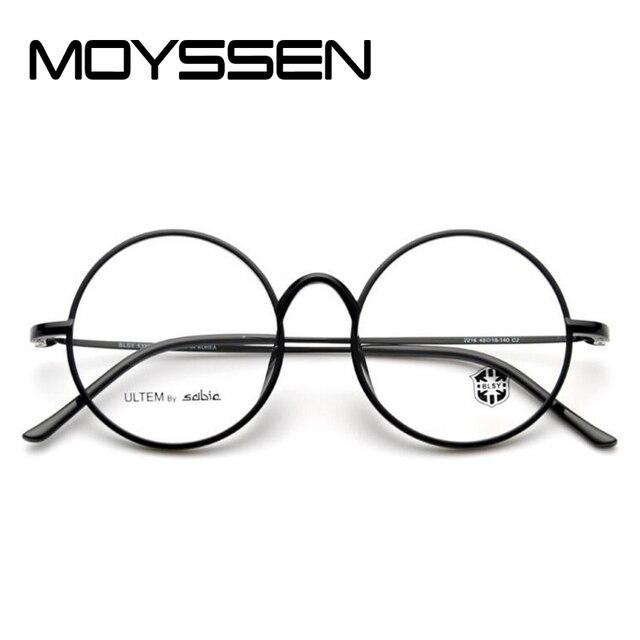 79aec6f4164b MOYSSEN Plastic Titanium Tungsten Optical Glasses Frame Round Unisex Women  Men Geek Eyewear can Fill Myopia Presbyopia Lenses