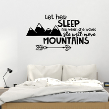 Beauty Mountains Quote Wall Sticker Vinyl Art Home Decor For Living Room Kids Decoration Decal Stickers Murals