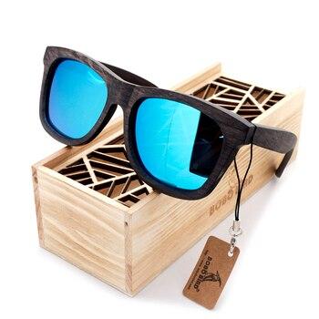 BOBO BIRD Original Wooden Men Sunglasses Casual Polarized Women Sun Glasses Black Framed With Gift Box gafas de sol mujer 8