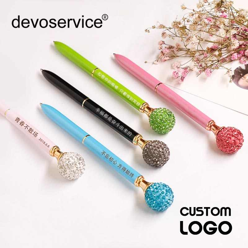 Your Name Logo Custom Colored Drill Ball Ballpoint Pen Logo High Grade Birthday Valentine's Day Engraved Gift Kid Teachers Gifts