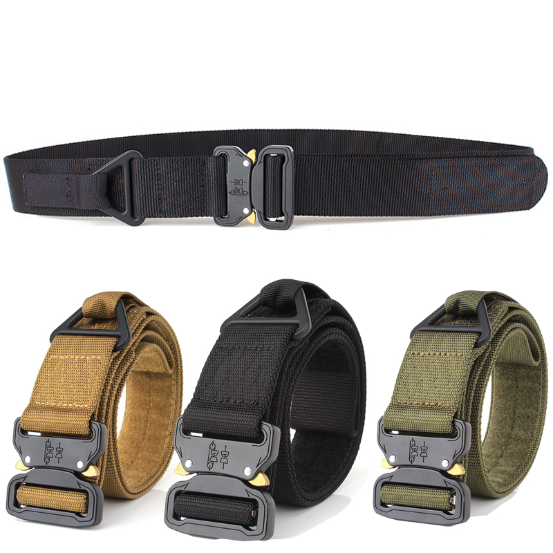 Army  Tactical Gear Heavy Duty Belt 1000D Nylon Metal Buckle Swat Molle Padded Patrol Waist Belt Tactical Hunting Accessories