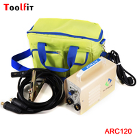Toolfit Mini Handheld MMA Welder ARC120 DC 220V Output 10 120A Inverter Welding Machine Equipment ARC Welders DIY Tool