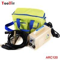 Toolfit Mini Handheld MMA Welder ARC120 DC 220V Output 10 120A Inverter Welding Machine Equipment ARC Welders DIY Tool