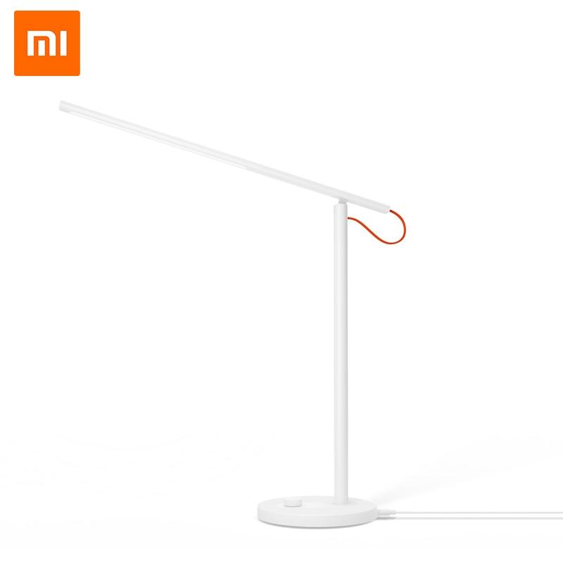 मूल Xiaomi Mijia एलईडी डेस्क लैंप स्मार्ट टेबल लैंप डेस्कलाइट समर्थन मोबाइल फोन एप्लिकेशन नियंत्रण 4 प्रकाश मोड पढ़ना एलईडी
