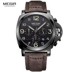 MEGIR Original Men Watch Top Brand Luxury Quartz Watches Stainless Steel Strap Waterproof Wristwatches Clock Relogio Masculino
