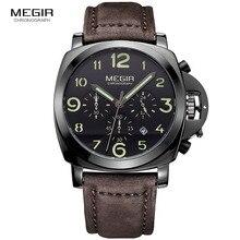 MEGIR מקורי גברים שעונים למעלה מותג יוקרה קוורץ שעונים נירוסטה שעוני יד עמיד למים רצועת שעון Relogio Masculino