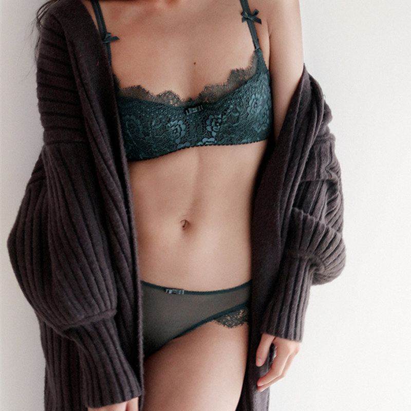 Intimates Sexy Women Lace Lingerie Bra Set Push Bras Underwear Sets Plus size B C D Cup Embroidery Bra Panty Set
