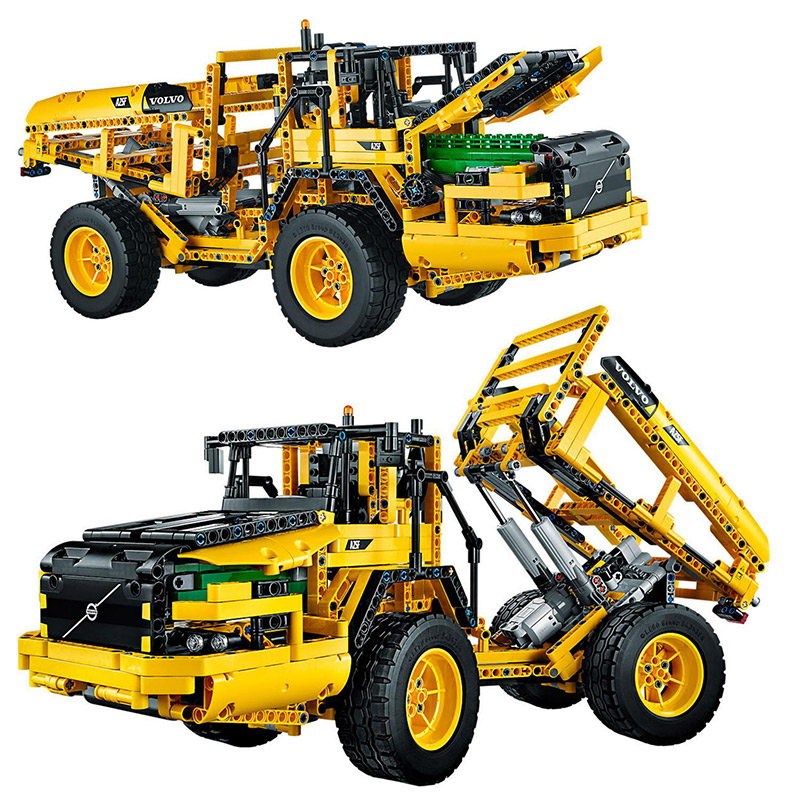 Technic Series 1636pcs Remote-Controlled VOLVO L350F Wheel Model Building blocks Bricks Compatible With Legoings 42030 Toys недорого