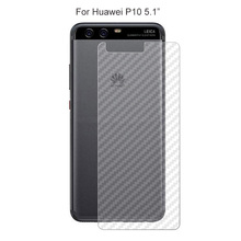 10PACK 3D Carbon Fibre Skin Sticker Protective Back Film For Huawei P10