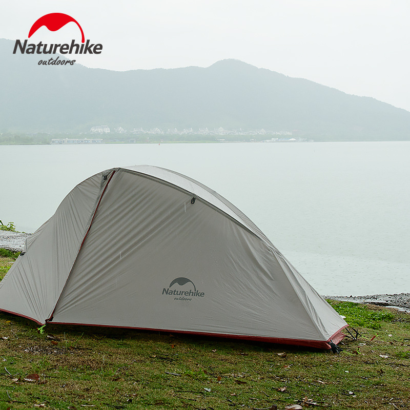 Naturehike Silicone 1-2 Person Double Layers Tent NH Outdoor One Bedroom Camping Tent With Mat 2 Colors 3 Seasons оборудование для мониторинга naturehike natruehike nh