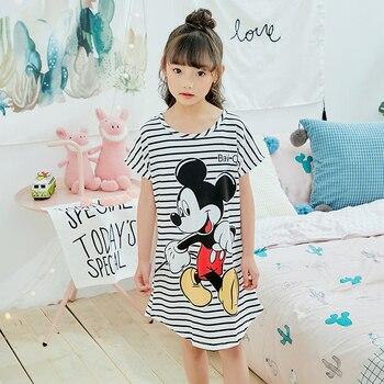 10809f5640 Chica camisón nuevo 2019 de moda de verano princesa larga de dibujos  animados de niños SleepDress niños camisones de Día de los niños regalo