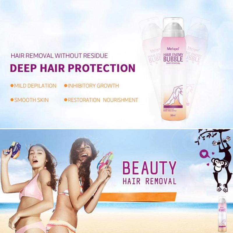 Remoção indolor do cabelo creme spray afastado