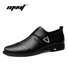 Spring Comfortable Men Casual Shoes Oxfords Fashion Quality Genuine Leather Flats Business