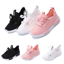 Children's Sneakers Kids Boys Girls Trainers Sneakers Sports Breathable Running Shoes Baby Infant Solid Casual Summer Shoes(China)