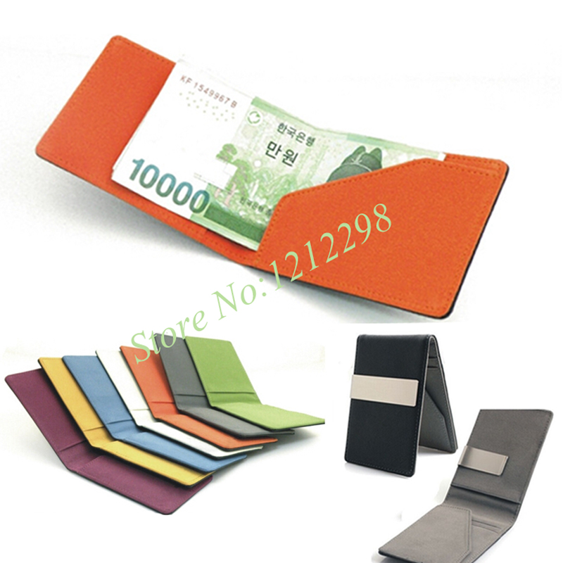 New South Korea money clips Men's wallet Multifunctional colourful thin women purses bag for man статуэтка thin man