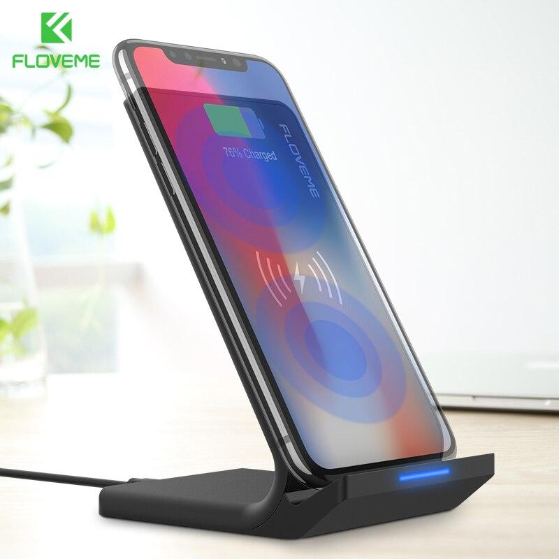 FLOVEME 5 V/2A Wireless-ladegerät Für Samsung Galaxy S8 S7 Kante Anmerkung 8 Qi Wireless Charging Dock Für iPhone X 8 8 Plus Usb-ladegerät