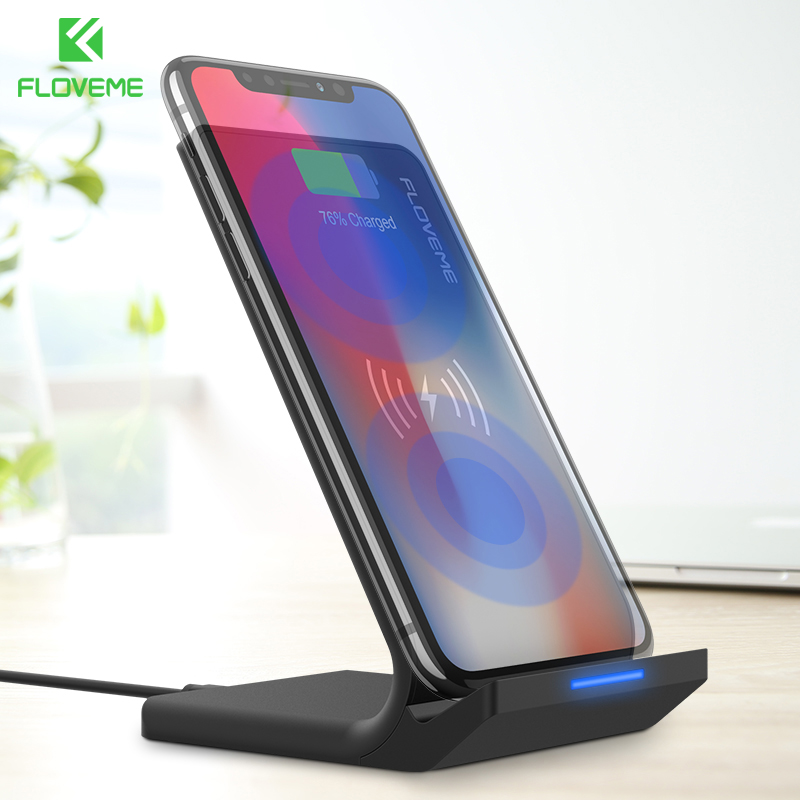 FLOVEME 5V/2A Wireless Charger For Samsung Galaxy S8 S7 Edge Note 8 Qi Wireless Charging Dock For iPhone X 8 8 Plus USB Charger