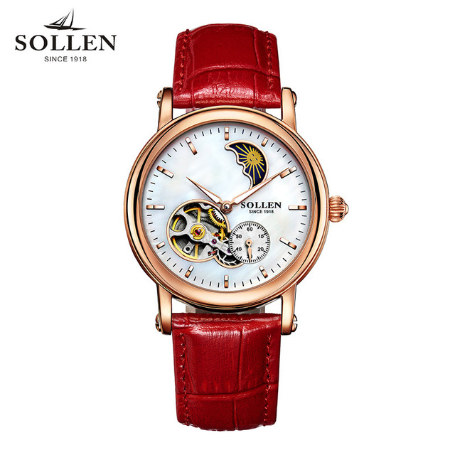 New Genuine STOLEN Watches Ladies automatic mechanical watch Women Brand Fashion hollow waterproof wristwatches Christmas gift stolen