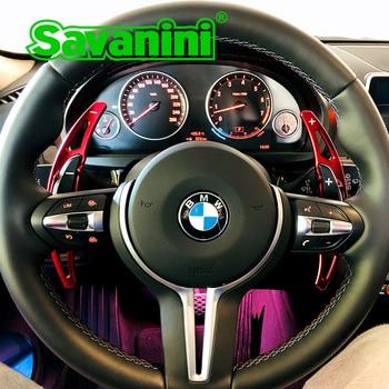 Savanini KIEROWNICA aluminium Shifter zmiany Paddle rozszerzenie dla BMW M2 M3 M4 M5 M6 X5M X6M auto akcesoria samochodowe
