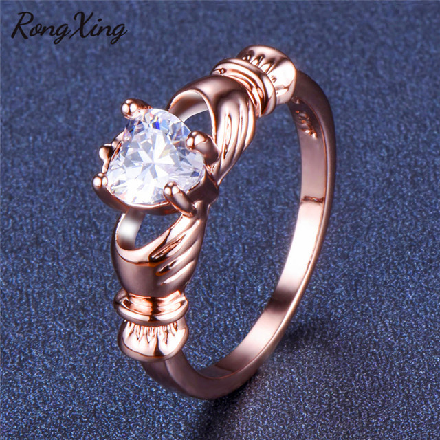 Claddagh Ring Gold Womens 5