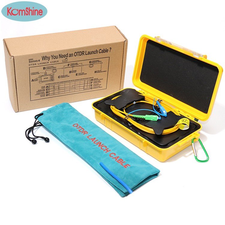 KomShine OTDR Dead Zone Eliminator,Fiber Rings ,Fiber Optic OTDR Launch Cable Box 1km SM 1310/1550nm