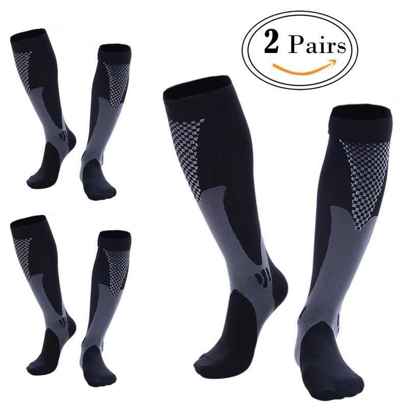 5614b4ab07c ... Professional Compression Socks Men Women Leg Support Stretch Below Knee  Socks Breathable Athletic Running Health High
