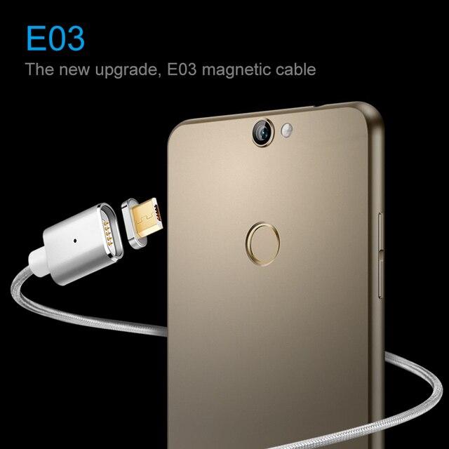 Elough E03 Magnetico Cavo del Caricatore Micro USB Per Xiaomi Huawei Android Del Telefono Mobile di Ricarica Veloce Magnete Microusb Cavo Dati Cavo 2