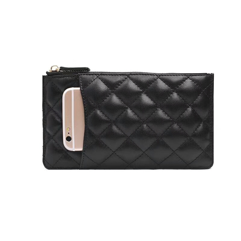 Wallets, Sheepskin, Diamond, Wallet, Criss-cross, Women