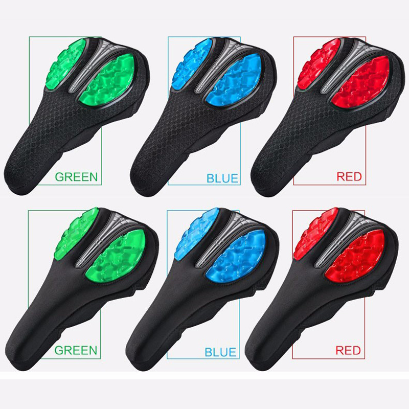RockBros Cycling Soft Silica Gel Pad Seat Saddle Cover Mesh Cushion Cover Green