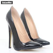Jialuowei FETISH 6 inch EXTREME HEEL Funtasma high heel ballet shoes Sexy Patent Heels Halloween ballet shoes Plus size 36-46