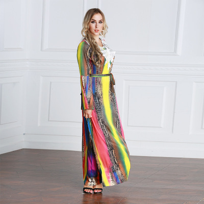 Des Du Manches Lâche Arabes Femmes Printemps Classique Robe orient Sauvage Vêtements Robes Et Longues Moyen À Musulmanes De D'été Noire IgBqnwz0
