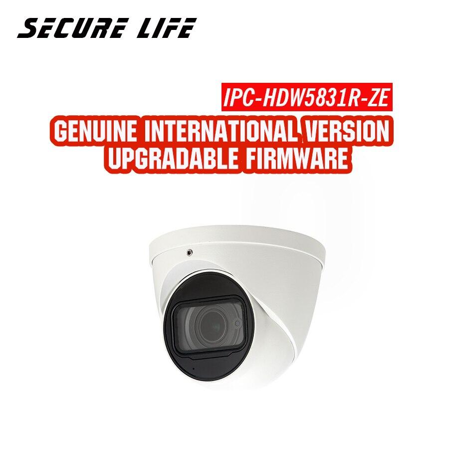 Английская версия с логотипом IPC HDW5831R ZE 8MP WDR 50 м ИК глазного яблока сети ip cctv безопасности Камера Встроенный микрофон POE H.265