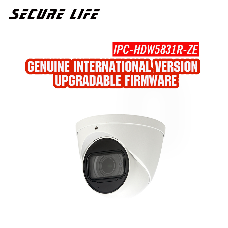 Versão em inglês com o logotipo IPC-HDW5831R-ZE 8MP 50 m Eyeball IR WDR cctv Rede de segurança ip Câmera microfone embutido POE H.265