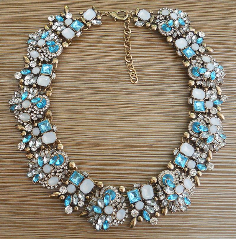 Modă de stras de cristal colier de nuntă coliere femei declarație - Bijuterii de moda - Fotografie 2