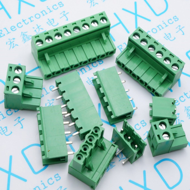 2 edg 5.08-8 p/bend straight needle green terminals Terminal connector