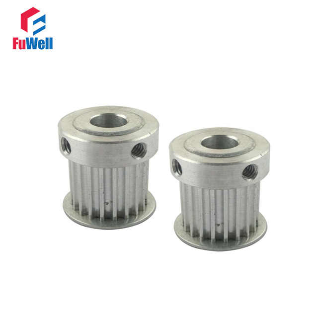 2pcs HTD 3M Type 18T Timing Pulley 3mm Pitch 5/6/6.35/7/8/10mm Inner Bore 11mm Belt Width Aluminum Alloy Timing Belt Pulleys