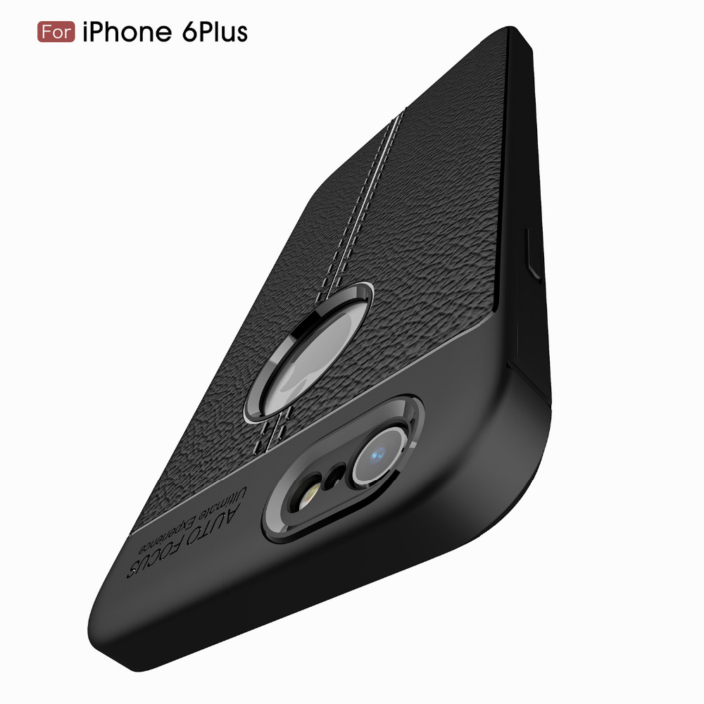 Galleria fotografica Shockproof Amor Matte Cover for iPhone 6 Plus Case Luxury Leather Carbon Fiber Silicone for iPhone 6s Plus Case Cover Luxury P25