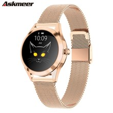 ASKMEER KW10 Smart Watch For Women 2019 IP68 Waterproof Heart Rate Monitoring Bluetooth Android IOS Fitness Bracelet SmartWatch