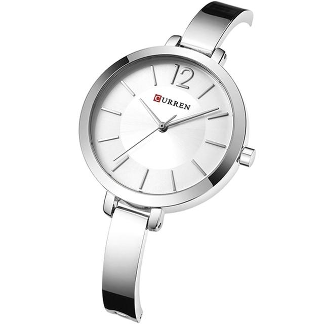 CURREN Fashion Women Dress Wristwatch Ladies Quartz Watch Brand Luxury Women Bracelet Watches Full Steel Female Clock