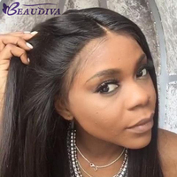 Brazilian Lace Front Human Hair Wigs For Women None Remy Hair Straight Wig With Baby Hair Natural Hairline Full End Black Color