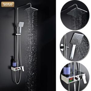 Image 2 - XOXO doccia di lusso acqua dinamico display digitale intelligente e doccia rubinetto led rubinetto doccia set Da Bagno Miscelatore 88010