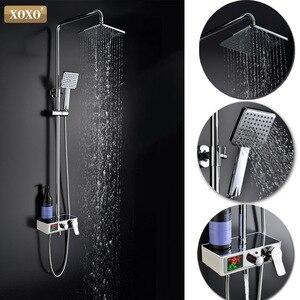 Image 2 - XOXO ducha de lujo con pantalla inteligente digital dinámica de agua, grifo de ducha con led, juego de grifería Mezclador de Baño, 88010