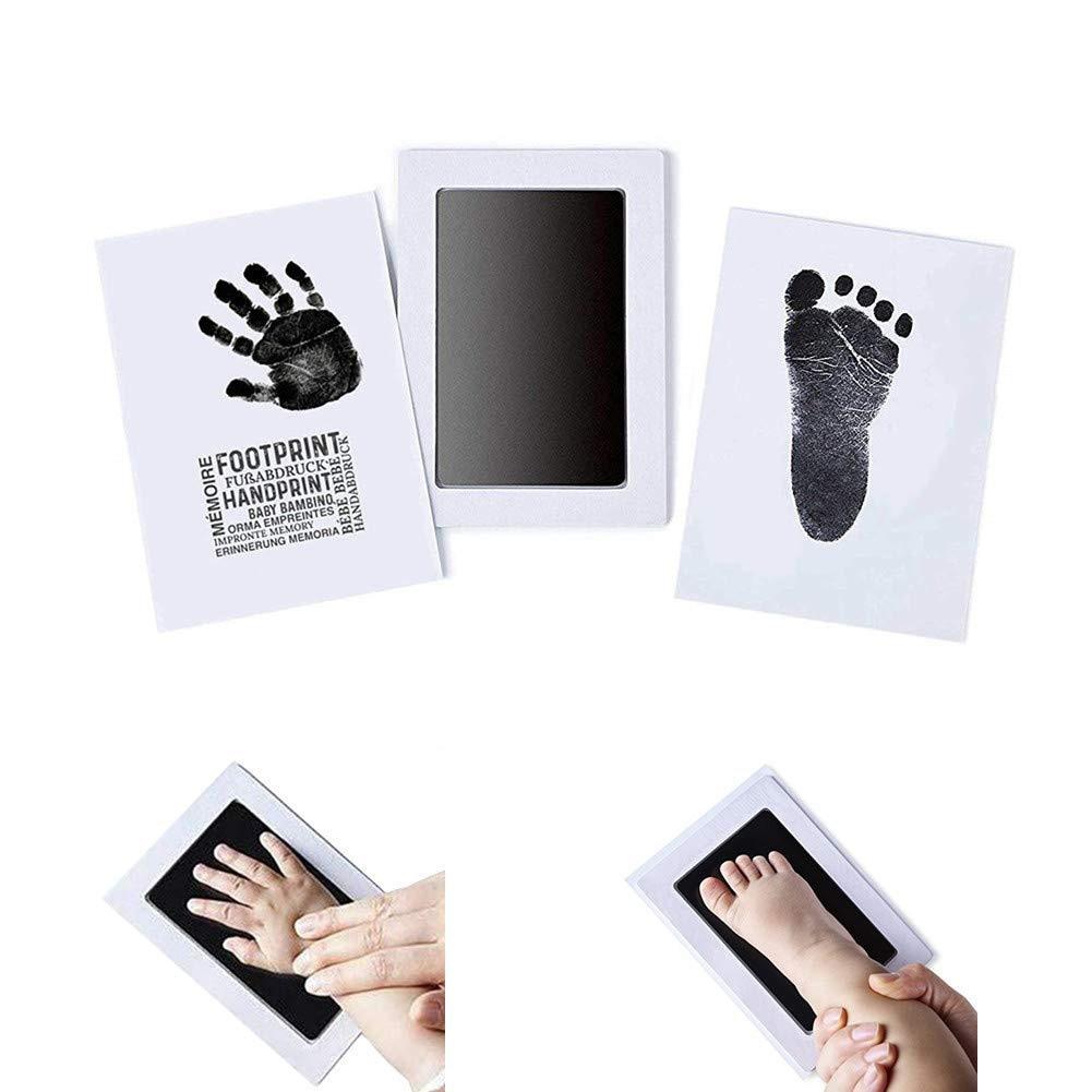 Safe Non-toxic Stamp Footprint Souvenir Inkless Newborn Mess Free Infant Handprint Ink Pad Imprint Cards Baby