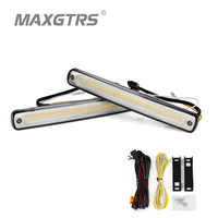 2x 36SMD 2835 Led 28W Universal Car Waterproof DRL Light Auto Knight Rider Lamp White With