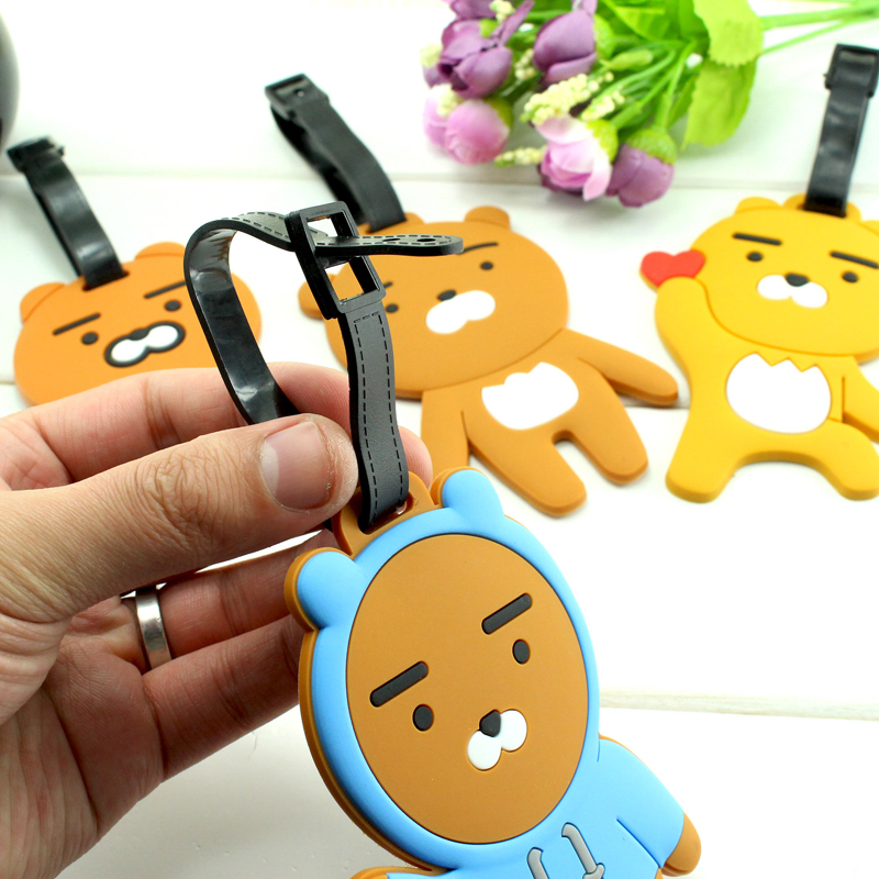 Mrs win Silicone Travel Accessories Luggage Tag Suitcase Cartoon Style Cute Fashion Silicon Portable Travel Label PJ6
